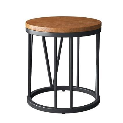 Amazon.com: L-Life - Mesa auxiliar de hierro forjado, mesa ...