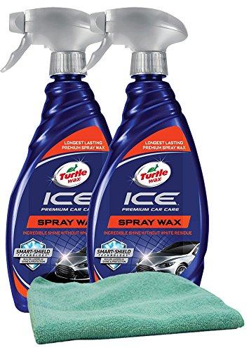 (Turtle Wax ICE Synthetic Spray Wax (20 oz.) Bundle with Microfiber Cloth (3 Items))