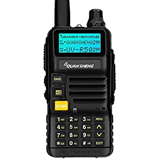 Discount Quansheng UV-R50 Rechargeable Dual Band Two-Way Radios with Earpiece Long Range Walkie Talkies (136-174MHz VHF & 400-520MHz UHF) Ham Amateur Radio Li-ion Battery and Charger Included
