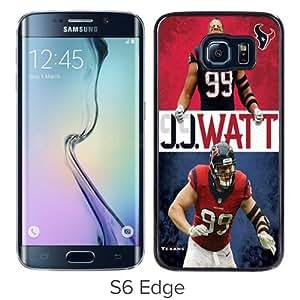 Unique Samsung Galaxy S6 Edge Screen Case ,Popular And Durable Designed Case With NFL-JJ Watt Black Samsung Galaxy S6 Edge High Quality Phone Case