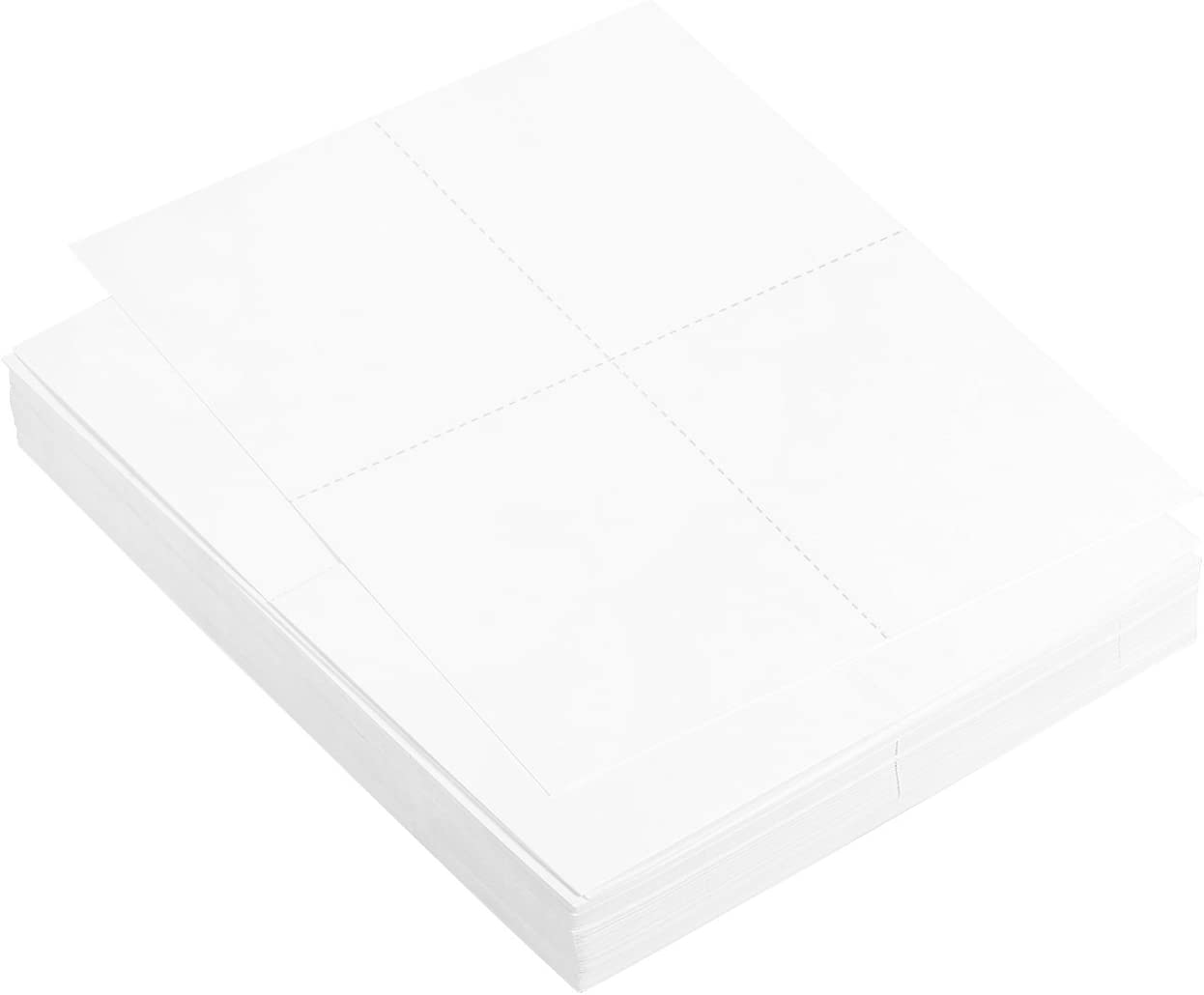 White Postcard Stock for Laser Printers Postcards are 5.5 x 4.25 Inches Each 400 Printable Post Cards in Total 100 Sheets Blank Postcard Paper