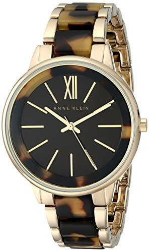 Anne Klein Women's AK/1812BNTO Gold-Tone and Tortoise Bracelet Watch