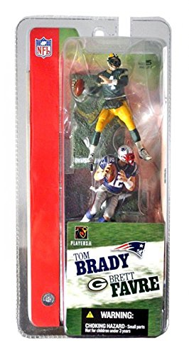 Mcfarlane 3 NFL 2-packs Tom Brady and Brett Favre by Unknown