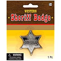 Amscan High Riding Western Party Silver Sherriff Badge