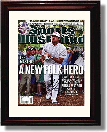 Framed Bubba Watson A New Folk Hero Masters Champ SI Autograph Replica Print