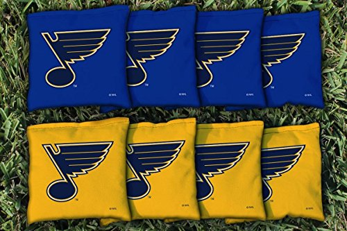Victory Tailgate 8 St. Louis Blues NHL Cornhole Game Bag Set (8 Bags Included, Corn-Filled)