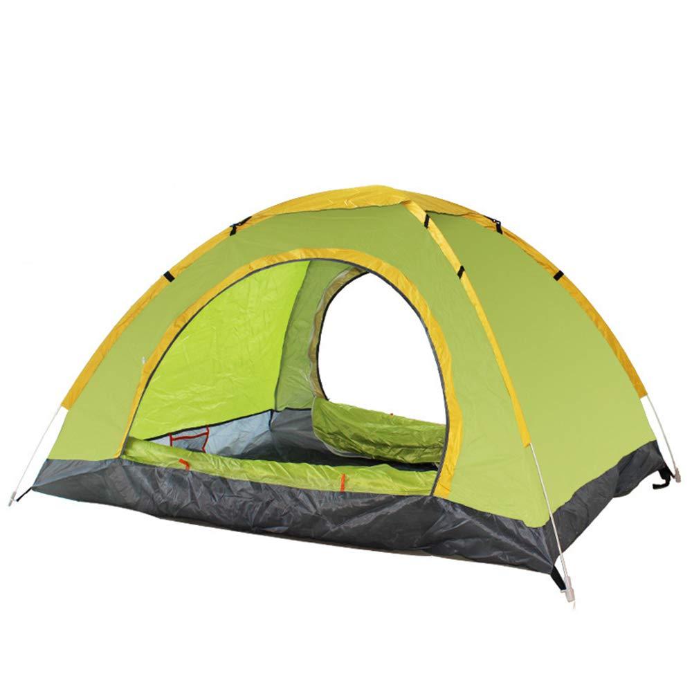ZHAORLL Light Outdoor Camping Zelt, 1 Bis 2 Personen Und 3 Bis 4 Personen, Wandern, Camping, Outdoor, Einfache Struktur, Wasserdicht, Gelb, Grau, Zwei Farben