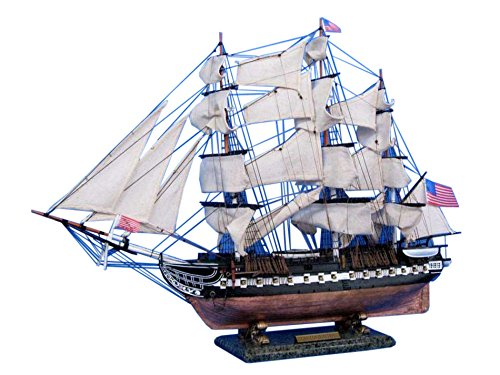 Constitution Wood Tall Ship Model - 9