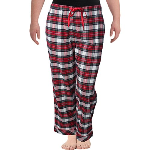 Lord & Taylor Womens Plaid Drawstring Pajama Bottoms Red XL