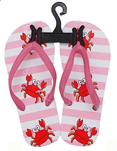 SchönerSchenken.EU Kinder Beach Slipper Krabbe in Verschiedenen Farben und Größen für Jungen und Mädchen Pink