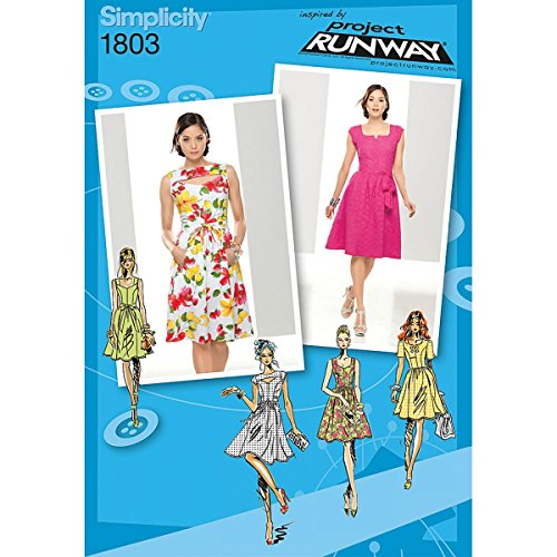(Simplicity Project Runway Collection 1803 Misses and Miss Petite Dresses Sewing Pattern, Size D5 (4-6-8-10-12))