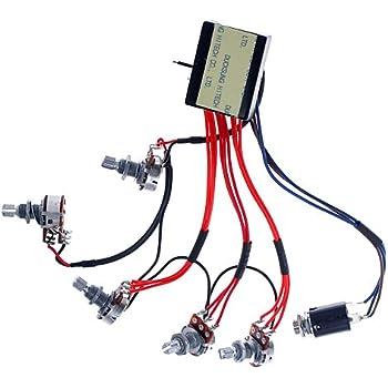 Fantastic Amazon Com 2Sets 3 Band Active Guitar Bass Eq Preamp Circuit Tone Wiring Database Hyediarchgelartorg