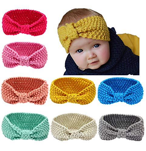 Toptim Baby Headbands Turban Girl Knitting Wool Head Wrap Knotted Hair Band for Photographic from Toptim