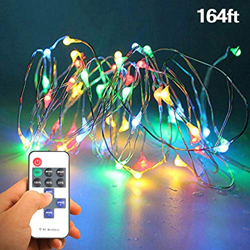 Lights 12 Christmas Volt (Tanbaby Christmas Baby Night Light - Fairy String Lights with Remote, Indoor Outdoor Waterproof 164ft LED XmasYardDecor for Christmas Thanksgiving, Birthday Party)