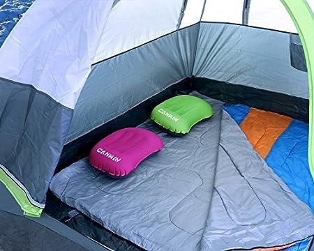 CANWAY aufblasbares Kissen leichtes Luftkissen selbstaufblasbares Kissen Camping Kissen