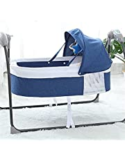 Electric Baby Swing Bed Cradle Bedside Bassinet Baby Swings for Infants Baby Auto Swings Sleeper Bluetooth Music Mosquito Net Pillow 5 Speed Cot Baby Rocker Swing Beds for Infants 0-12 Months Babies (