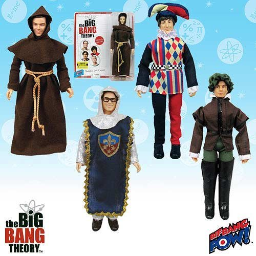 [2014 SDCC Exclusive Big Bang Theory Costumes 8-Inch Figures Set of 4 Renaissance Fair Figures] (Codpiece Costumes)