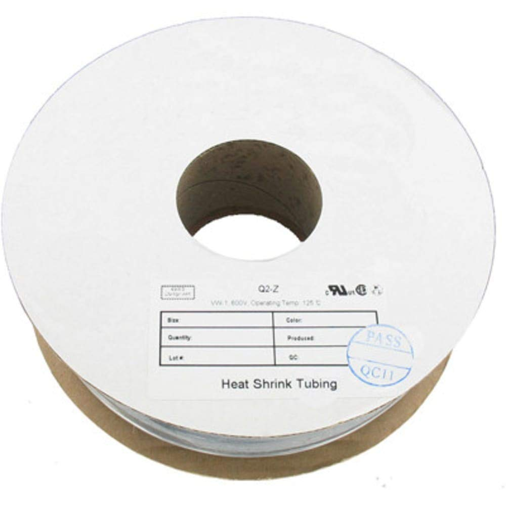 Tubing 1/16 in. Shrink(2:1) 100 FT.L; Thin Wall 0.18 mm; Int. Dia. 1.6 mm, Pack of 10