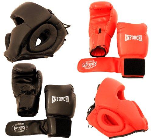 Lastworld 2 Pairs Pro Boxing Gloves & Pro Head Gears Pro - Boxing Headgear Amateur
