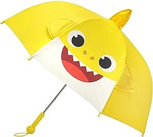 PinkFong_BABY SHARK_Shark Family Melody Pop-up Stick Umbrella For Kids (Yellow)