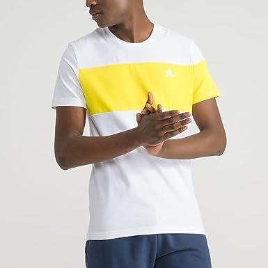Le Coq Sportif CAMISETA SAISON TEE Hombre Amarillo XL: Amazon.es ...