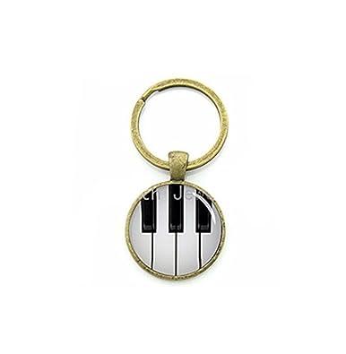 Instrumento Musical joyas clave cadena clásico blanco y ...