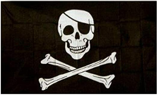 Pirate flag Caribbean skull head pirate skeleton sabre Jolly roger 150x90cm J2L3