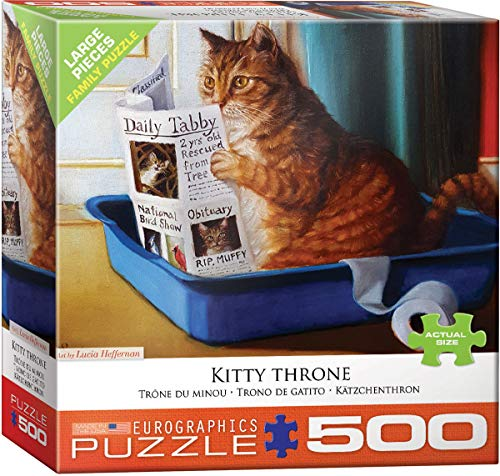 Kitty Throne by Lucia Heffernan 500Piece Puzzle (Cat Jigsaw Puzzle)