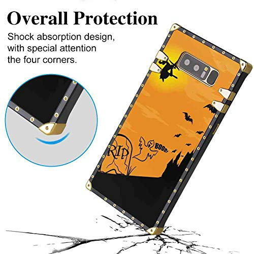 Galaxy Note 8 Square Edge Case Cover (2017) 6.3inch Halloween Rip -