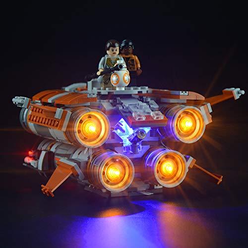 Conjunto de luces LIGHTTAILING para bloques de construcción (Star Wars The Jakku Quad Jumper) - Kit de luces LED Compatible con Lego 75178 (NO incluido el modelo)