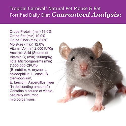 Tropical Carnival F.M. Brown's Natural Pet Mouse and Rat Food, 2-lb Bag - Vitamin-Nutrient Fortified Daily Diet, Soy-Free High Protein Blend with Shrimp, NO Artificial Colors or Flavors by Tropical Carnival (Image #4)