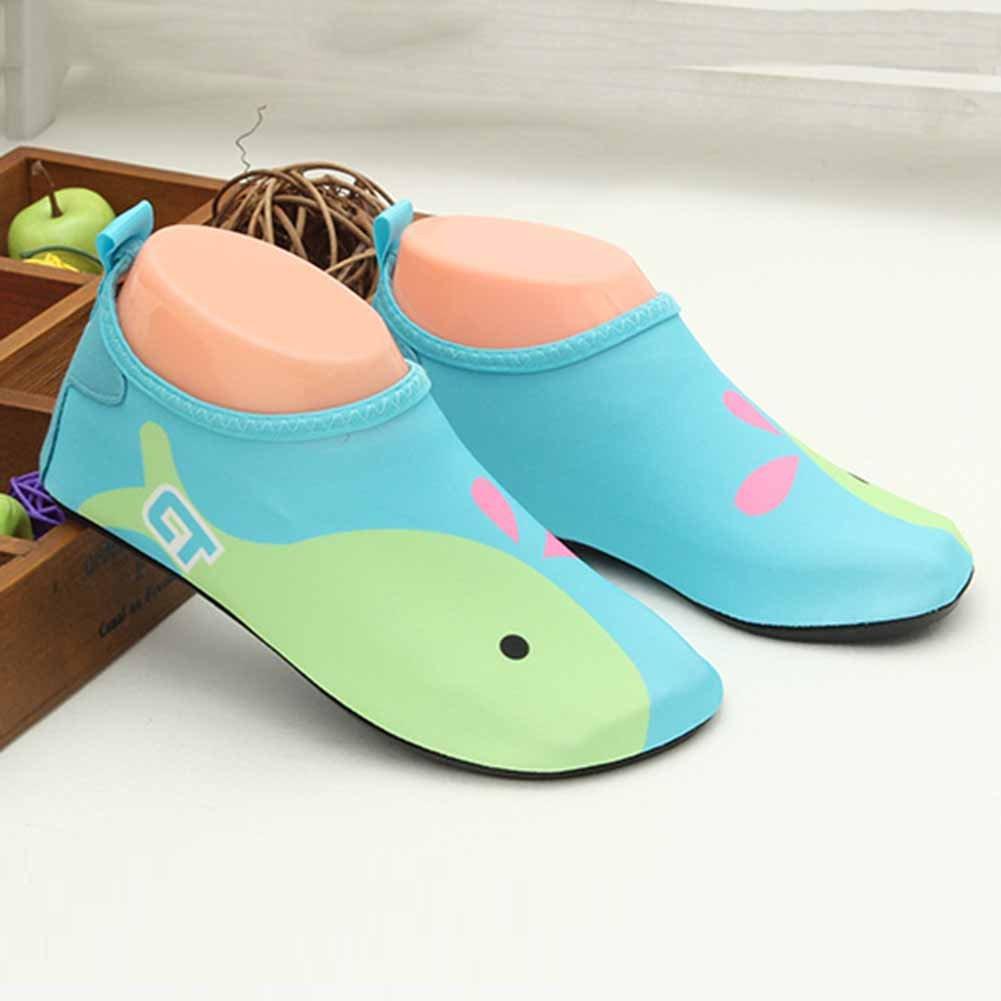 19.1cm GudeHome Lovely Kids Cartoon Barefoot Water Skin Shoes Aqua Socks Swimming Diving Beach Yoga Shoes