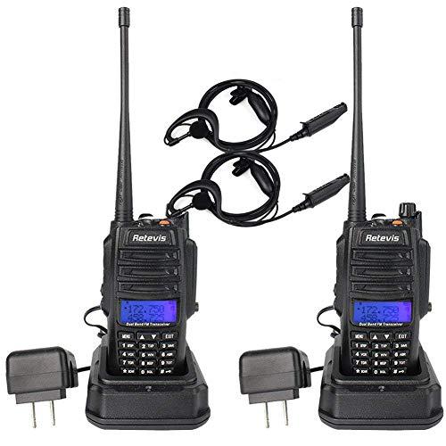 Retevis RT6 Walkie Talkies IP67 Waterproof Dual Band VHF/UHF