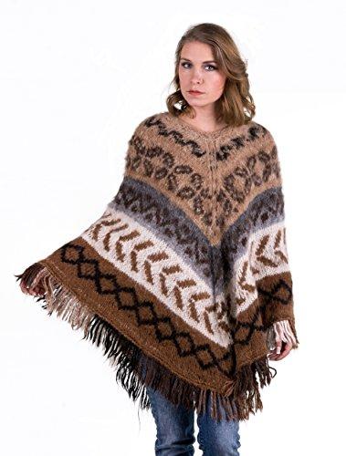 Alpaca Wool Womens Sweaters (Gamboa Long Rustic Alpaca Poncho for)