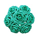 Jing-Rise-Wedding-Bouquets-Rose-50PCS-Artificial-Flowers-Foam-Roses-With-Stem-for-DIY-Bridal-Bridesmaids-Bouquets-Wedding-Baby-Shower-Home-Birthday-Party-Anniversary-Floral-Decoration-Teal-Green
