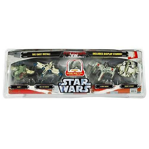 - Star Wars Titanium Series Die Cast 5 Pack with Exclusive Raw Metal Tie Bomber
