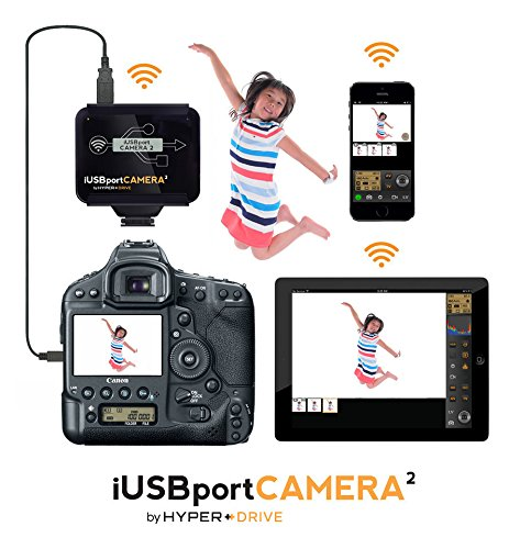 HyperDrive iUSBportCAMERA2 Wireless Tether from most Canon/Nikon DSLR to iPad iPhone Android, MAC and PC by Hyper