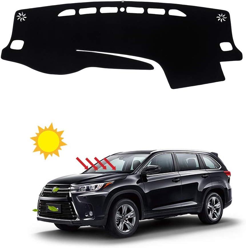BLAKAYA Compatible with Auto Car Dashboard Carpet Dash Board Cover Mat Dash Protector for Toyota Highlander 2014 2015 2016 2017 2018 2019 Sun Cover Pad