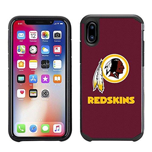 Prime Brands Group Cell Phone Case for Apple iPhone X - NFL Licensed Washington Redskins Textured Solid Color -