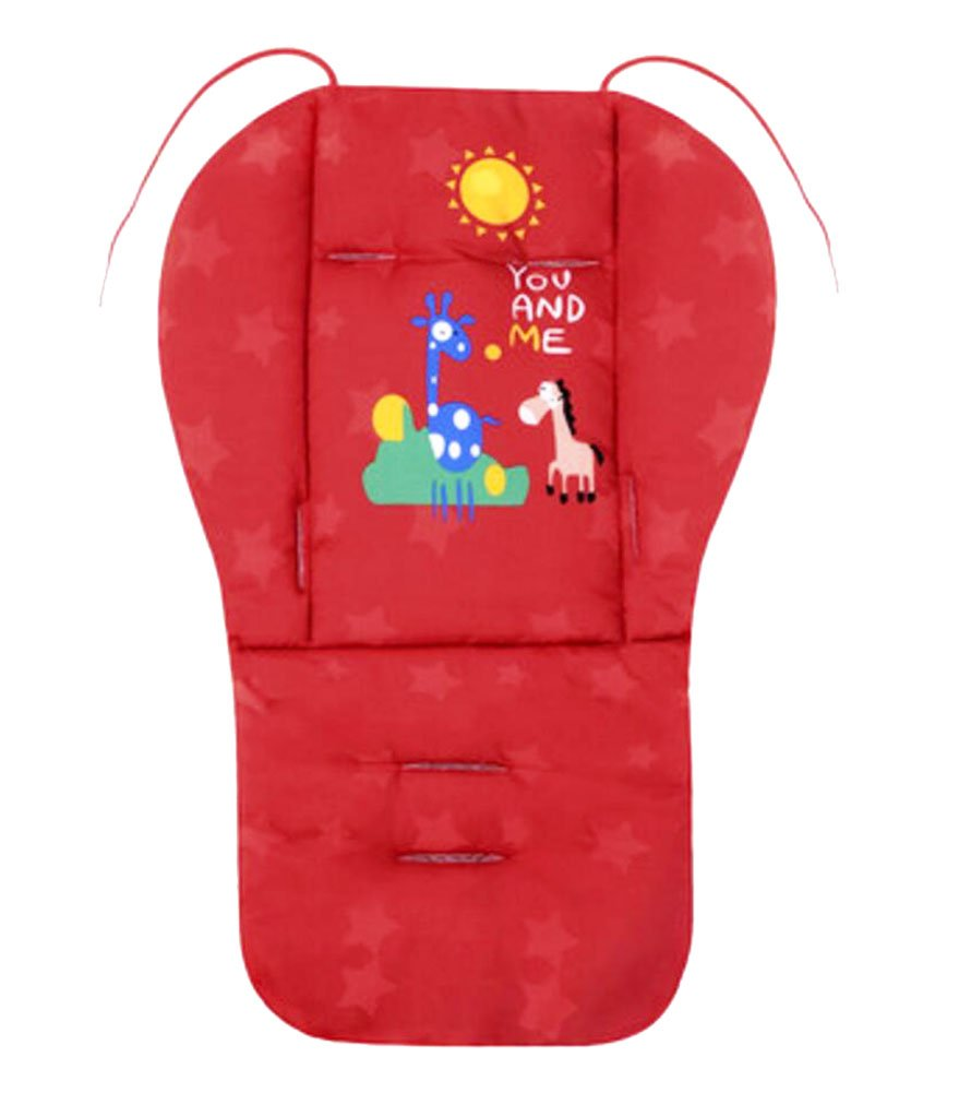 Cut Breathable Thicken Baby Strollers Mat Stroller Seat Liners -Red Deer by George Jimmy