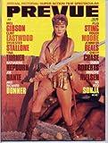 Prevue Magazine Brigitte Nielsen, Roger Moore, James Bond 007, The Goonies, Sylvester Stallone, Rambo, July 1985 (Mediascene Prevue)