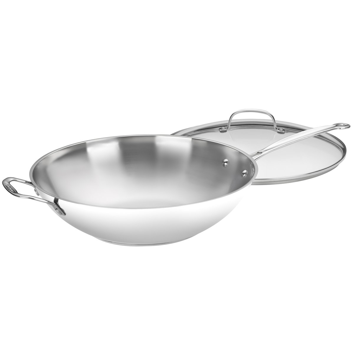 Cuisinart 726-38H Chef's Classic Stainless 14-Inch Stir-Fry Pan with Helper Handle and Glass Cover by Cuisinart