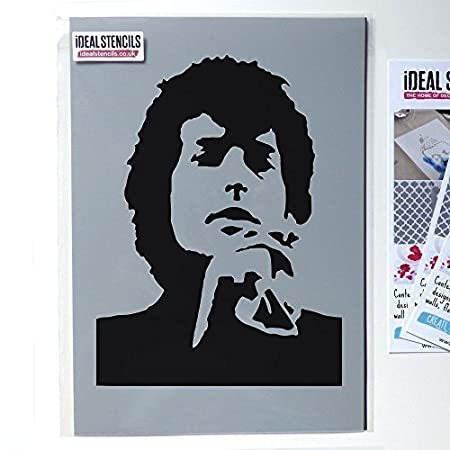 Ideal Stencils Bob Dylan stencil, paint fabrics, walls and furniture ...