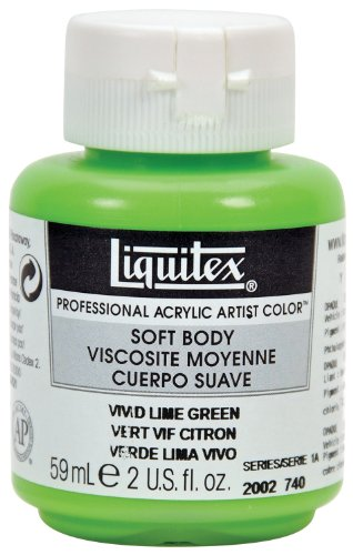 Liquitex Professional Soft Body Acrylic Paint 2-oz jar, Vivid Lime Green