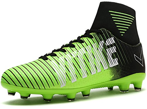 Littleplum Soccer Cleats Shoes Football Boots Cleats High-top Sock Shock Buffer Outdoor ()