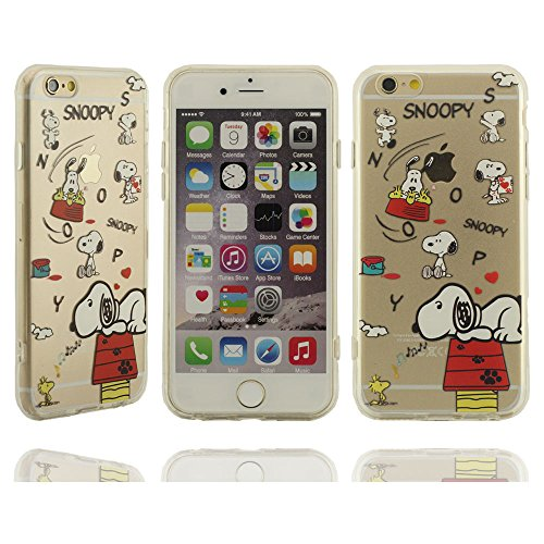Klar modisches Design in verschiedenen Farben Stilvolle Cool Cartoon snoopy lampe de table Serie Hartplastik Case Schutzhülle für Apple iPhone 6 plus / 6S plus Hülle 5.5 inch