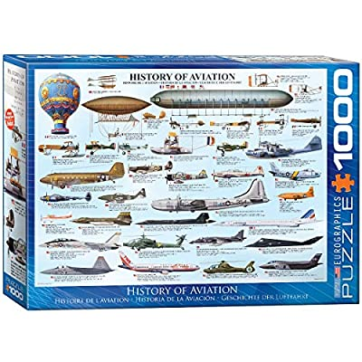 EuroGraphics History of Aviation Puzzle (1000-Piece): Toys & Games