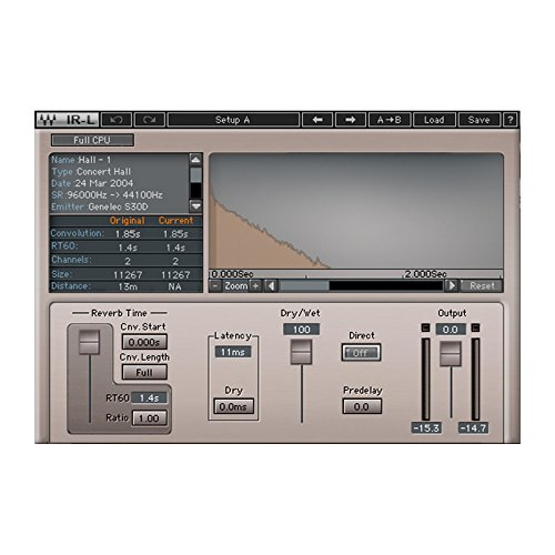 Waves IR-L Convolution Reverb | Audio Reverb Plugin Software Download Only (Best Waves Reverb Plugin)