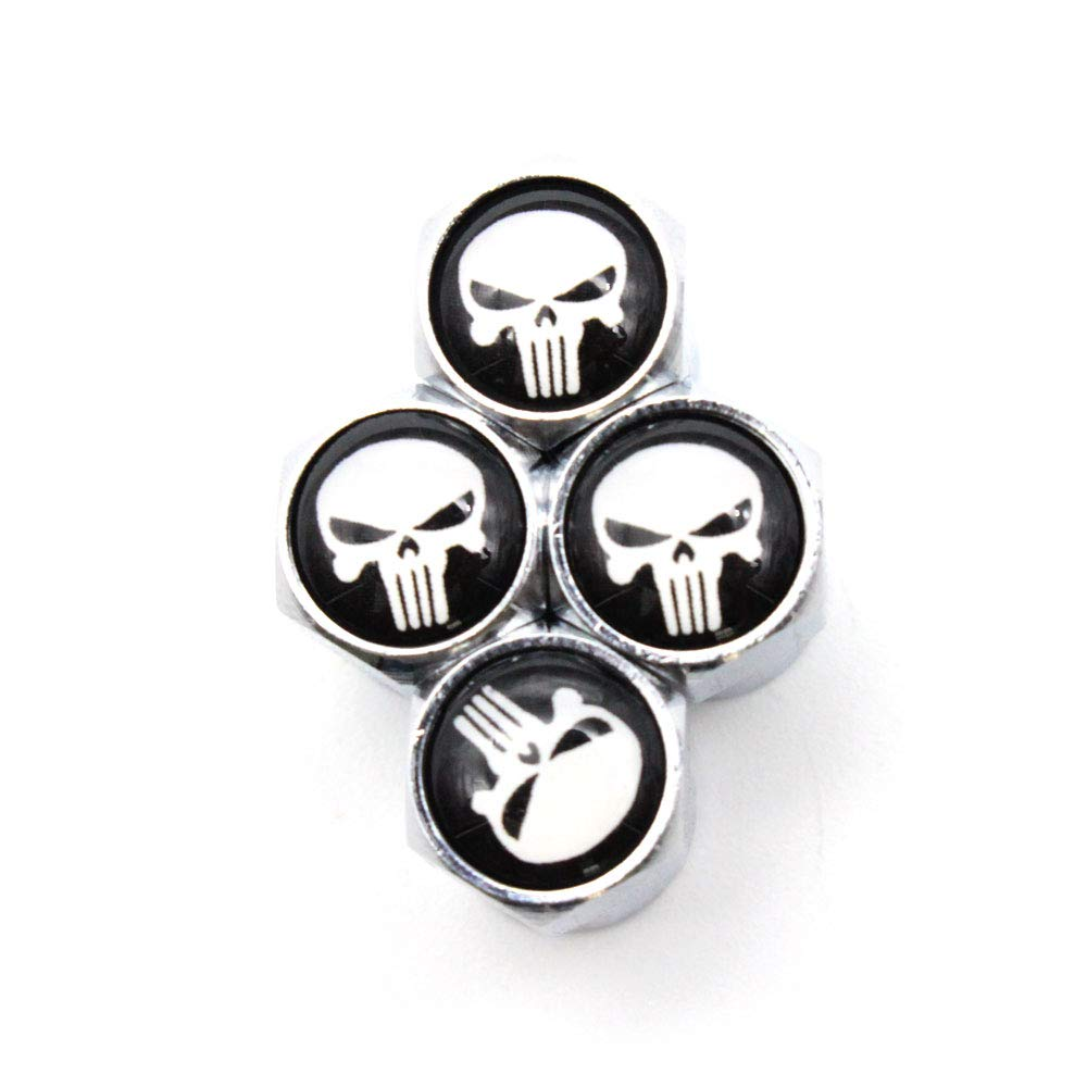 4 Pcs/Set Car Styling Aluminium Alloy/Copper Skull Logo Car Tire Valve Caps Wheel Tires Tire Stem Air Cap Airtight Covers