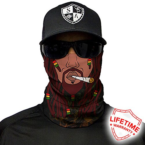 Salt Armour Face Mask Shield Protective Balaclava Bandana MicroFiber Tube Neck Warmer - Rasta